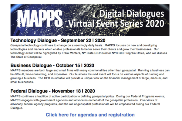 MAPPS Digital Dialogs Virtual Event Series 2020